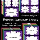 These labels are super bright and super fun!  You can't help but smile when seeing such amazing colors around your room!    Looks great on a black ...