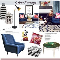 Welcome to the city of champions by helenevlacho on Polyvore featuring interior, interiors, interior design, home, home decor, interior decorating, Tom Dixon, West Elm, Fornasetti and Chiara Ferragni