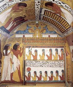 The Left Wall of the Tomb of Sennedjem- Egypt, after the New Kingdom.