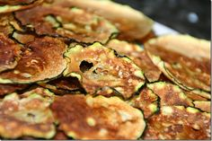 Crispy Zucchini Chips, total YUM.  Made in the microwave they're super simple to make and as they're only zucchini, some cooking spray and a bit of salt, they're healthy, low carb, gluten free and a great way to eat your veggies.  Check out the recipe on Cook Lisa Cook.     http://cooklisacook.blogspot.com/2012/09/crispy-zucchini-chips.html