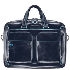 Piquadro Blue Square Kurzgrifflaptoptasche mit Tablet-Fach night blue