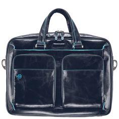 Piquadro Blue Square Kurzgrifflaptoptasche mit Tablet-Fach night blue