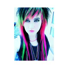Scene hair or scene image by babyballoongirl on Photobucket ❤ liked on Polyvore featuring hair, people, girls, models and backgrounds