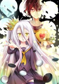 Sora. Shiro. No Game No Life. #anime