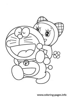 Print doraemon and dorami 8a71 coloring pages