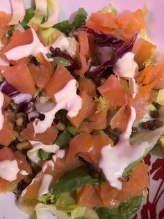 mes plats IG bas -  salade truite fumé