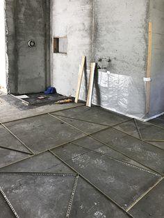 Mandy Moore Guest Bathroom plans & design - Home Design Home Design, Plan Design, Floor Design, Terrazo Flooring, Wall Tiles Design, Las Mercedes, Brown House, Tile Trim, Hospital Design