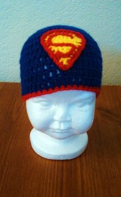 Butterfly's Creations: Superman Beanies. FREE pattern for all sizes!