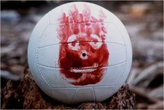 """[Chuck talks to Wilson, the volleyball] Chuck Noland (Tom Hanks): """"Hey, you want to hear something funny? My dentist's name is James Spalding."""" -- from Cast Away directed by Robert Zemeckis Tom Hanks Movies, Halloween Costumes You Can Make, Halloween Movies, Scary Halloween, Halloween Ideas, Gift Guide For Men, Man Parts, Dreams, Costumes"""