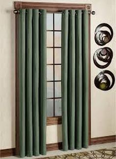 Ideas for Curtains with Grommets: Canvas Curtains With Grommets ~ virtualhomedesign.net Window Treatment Inspiration