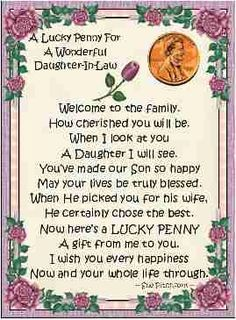 Daughter in Law Poems | Daughter In Law [] - $1.00 : Cindi's Candy Creations!, Personalized ...