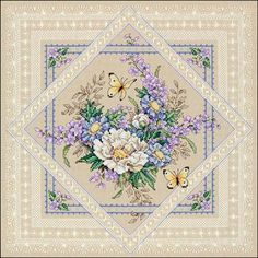 FLOWERS AND LACE Dimensions counted cross stitch kit FLORAL FLOWER