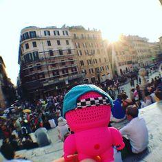 #Rome #whereareaudiobots #audiobotsrock #italy #spanishsteps #fashion #streetstyle #streetart #streetwear @excelsiormilano @ymeuniverse @nordstrom #music #snapback #gadgets #geek #tech #designertoys #arttoy @l10trading