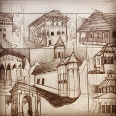 Freehand Architecture - Architectural Drawing and Design Daily Drawing, Drawing Tips, You Draw, Distance, Architecture, Paper, Drawings, Painting, Ideas