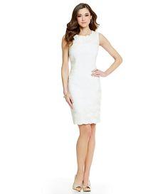 d8669327816 Antonio Melani Tamar Flroal Tonal Jacquard Sheath Dress Dillards