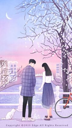 Background Hd Wallpaper, Couple Wallpaper, Sad Wallpaper, Cute Couple Drawings, Cute Couple Art, Love Animation Wallpaper, Cover Wattpad, Wattpad Background, Animated Love Images