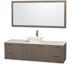 Wyndham Collection Amare 72 in. Vanity in