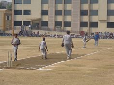 Students are Playing Cricket on Children Day