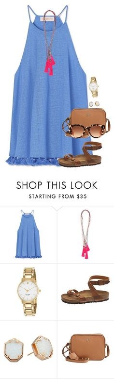 """It is so nice out!"" by amberfmillard-1 ❤ liked on Polyvore featuring Tory Burch, Kate Spade, Birkenstock, Kendra Scott and Fendi"