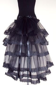 Black Burlesque Moulin Rouge Bustle Belt 14 16 18 Sexy Lace Halloween Steampunk   eBay