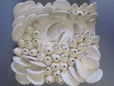 Ocean Frieze Coral wall sculpture crab lobster by CoastalCeramics