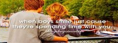 When boys smile just cause   they're spending time with you  visit us www.myfbsearch.com