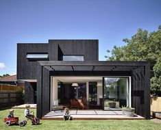 Garth House is a project recently completed by OLA Architecture Studio. Located in Northcote, Garth was once a dilapidated nineteenth . Architecture Résidentielle, Australian Architecture, Australian Homes, Ideas Terraza, House Extensions, Outdoor Areas, Modern House Design, Home Interior, Interior Design