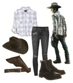 """""""Carl Grimes Cosplay ComicCon 2.0"""" by hannahmarie4300 ❤ liked on Polyvore featuring Silverado, Rails, Ksubi, Dr. Martens, flannel, TWD, chandlerriggs, carlgrimes and comicconfashion"""