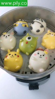 Steamed Buns, Cute Baking, Cute Food Art, Kawaii Dessert, Fun Baking Recipes, Cute Desserts, Food Decoration, Cafe Food, Miniature Food