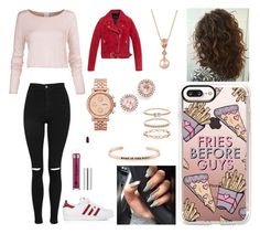 Sans titre #1867 by tronchehilarion on Polyvore featuring mode, Andrew Marc, Topshop, adidas, LE VIAN, FOSSIL, Dana Rebecca Designs, MantraBand, Accessorize and Casetify
