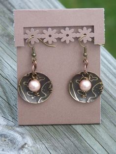 Crazy About Earrings (Customer Design) - Lima Beads. What a good idea, using an edge punch to make earring holes, and yet still ending up with a folded card to make it easier to display! Just might have to try this!