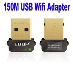 EDUP Mini Nano Golden USB WIFI 150M Wireless 11b/g/n LAN Networking Adapter by Generic. $6.88. Overview: The smallest wireless adapter pocket design, very mini size (like fingernail), light weight, easy to carry, convenient use, travel out business. Despite the size, this tiny USB card supports higher data rate of up to 150Mbps when connecting with wireless 802.11n device which is 3 times faster than your normally 11g connection. Item Description Features: ?Model :...