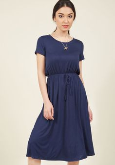 Chance Circumstance Midi Dress in Navy in XL, #ModCloth