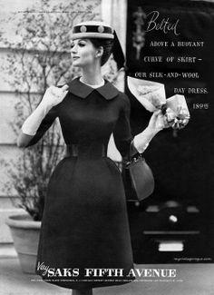 Saks Fifth Avenue 1960 / model Simone... | myvintagevogue