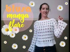 Tunic Blouse, Tunic Tops, Crochet Stitches, Crochet Patterns, Summer Patterns, Crochet Top, Free Pattern, Knitting, Coat