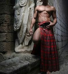 "Men in kilts. Reminds of the Karen Marie Moning ""Highlander"" series I'm reading right now."