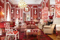 Living to Mesmerize: El Salón Rojo del Hotel Santo Mauro/Santo Mauro´s Hotel Red Lounge