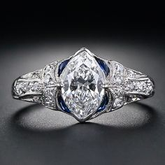 images of 2 carat marquis diamond rings | 02 Carat Marquise Diamond Art Deco Ring - 10-1-4496 ... | A GIRL'...