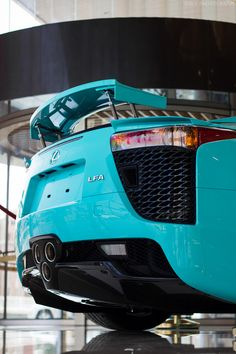** YES YES YES! the fact that its a lexus, AND teal, omg yes!    Lexus LFA. Awesome in Teal.