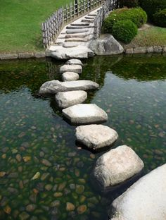 Japanese stepping stones.