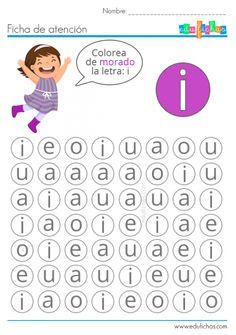 ejercicios con letras estimulacion cognitiva Preschool Spanish Lessons, Preschool Writing, Preschool Learning Activities, Alphabet Activities, Learning Tools, Preschool Activities, Kids Learning, Printable Preschool Worksheets, Worksheets For Kids
