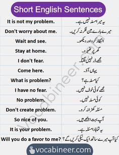Basic English Sentences, English Vocabulary Words, English Phrases, Learn English Words, English Study, English Grammar, Better English, Hindi Words, Do Not Fear