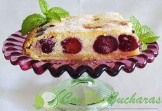 Tarta de requesón y cerezas