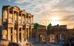 *TURKEY~ANCIENT EPHESUS: one of the greatest archaeological sites.At the time it was the center of culture+commerce of the Roman Empire.So what to see in Ephesus+what the things to do in Ephesus Turkey?There are monuments like the Temple of Artemis of Ephesus(one of the 7 wonders of ancient world)+the Cave of Zeus in Ephesus.The holy place of pilgrimage for early Christians,the burial place of the VIRGIN MARY+THE APOSTLE JOHN are also located here.