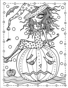 Halloween by Chubby Mermaid Abstract Doodle Zentangle ZenDoodle Paisley Coloring pages colouring adult detailed advanced printable Kleuren voor volwassenen coloriage pour adulte anti-stress kleurplaat voor volwassenen