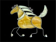 Amber Stained Glass Celtic Pony | by JasGlassArt - Stained Glass