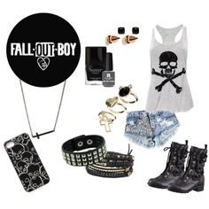 """Fall out boy"" by hunter-444 on Polyvore"