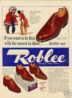 Mens shoe ad 1940's