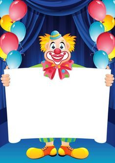 large print hd Transparent Birthday Frame with Clown Birthday Photo Frame, Happy Birthday Frame, Birthday Frames, Circus Birthday, Birthday Photos, It's Your Birthday, Birthday Cards, Birthday Gifts, Carnival Themed Party