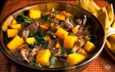 Beef butternut squash stew!  AMAZING!  http://paleoleap.com/butternut-squash-beef-stew/